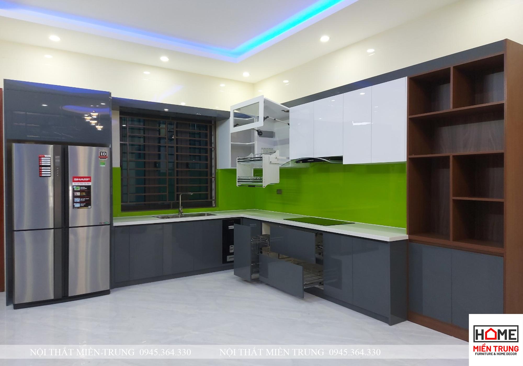 Tủ  Bếp Acrylic TBA 01 Anh Dần – Nghi Phú