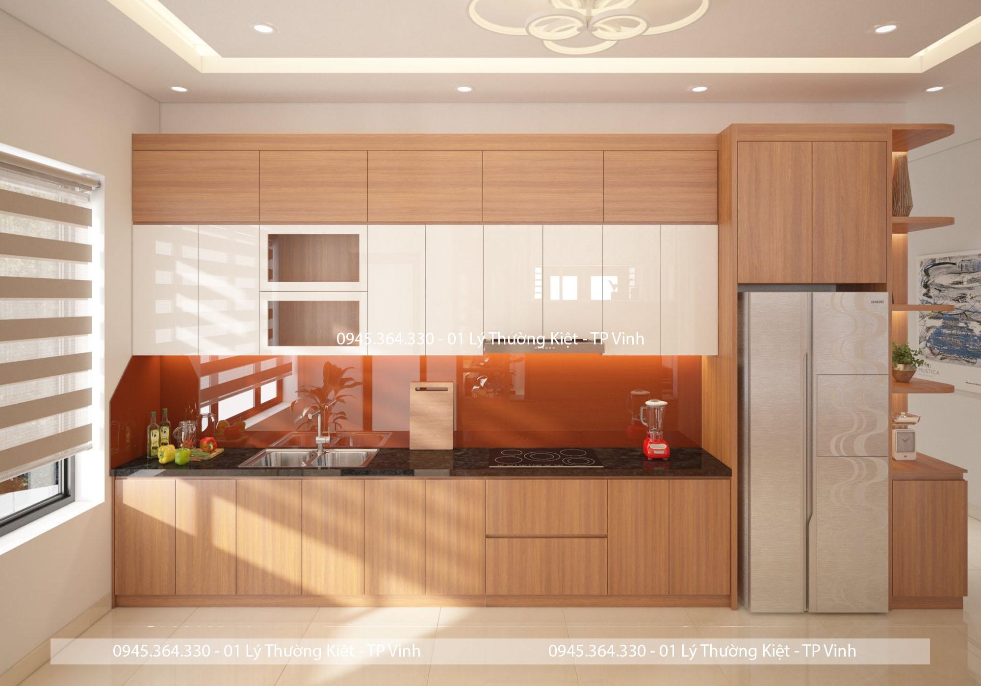 Tủ bếp Melamin tại đẹp Nghệ An